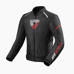 FJT289_Jacket_Sprint_H2O_Black-Neon_Red_front-1-