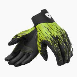FGS167_Gloves_Spectrum_Black-Neon_Yellow_front-1-
